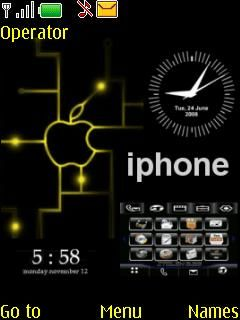 IPhone Appl Clock Mobile Theme
