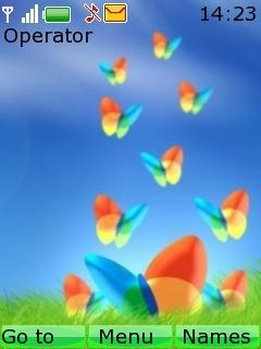 Msn Butterflies Mobile Theme