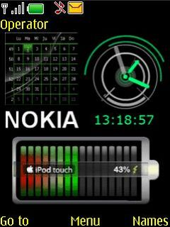 Nokia Batttery Clock Mobile Theme