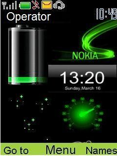 Animated New Battery S40 Theme Mobile Theme