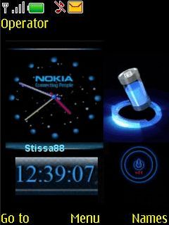 Nokia Blue Battery Mobile Theme
