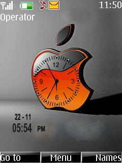 Apple Dual Clock Mobile Theme