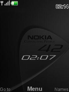 Nokia Style Clock Mobile Theme