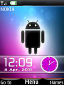 Android Dual Clock Mobile Theme