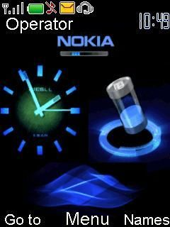 Animated Nokia Clock Mobile Theme
