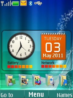 Windows Orbs Mobile Theme