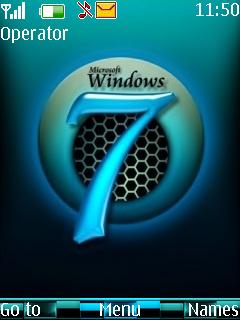 Blue Windows Mobile Theme