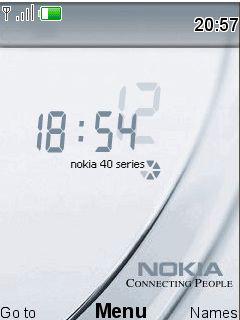 Nokia Forever Clock Mobile Theme