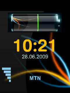 Animated Clock Battery Mobile Theme