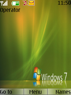 Windows Se7en Green Mobile Theme