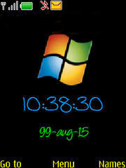Windows Clock Mobile Theme
