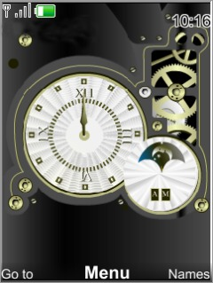 Mechanical Clock Mobile Theme