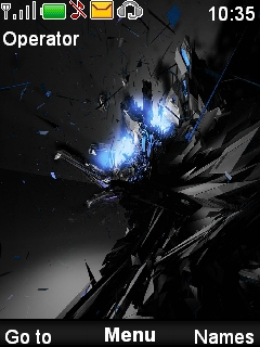 Blue Black Mobile Theme