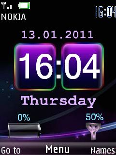 Htc Colors Clock Mobile Theme