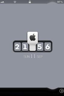 LS Block Clock Mobile Theme