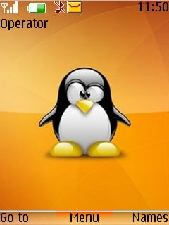 Tux Orange Mobile Theme
