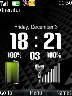 Xperia Black Battery Mobile Theme