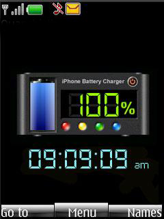 Blue Battery Mobile Theme