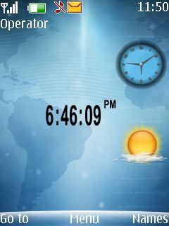 Htc Clock Mobile Theme