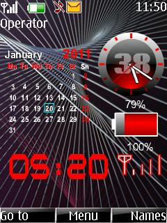 Calendar Battery Mobile Theme