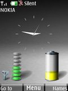 Clock N Battery  Mobile Theme