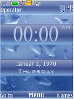 Iphone Blue Clock Mobile Theme