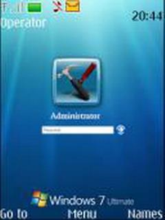 Windows Se7en Login Mobile Theme