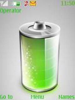 Green Battery Mobile Theme