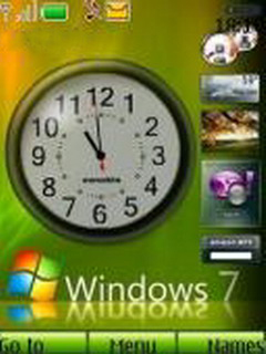 Win7 Clock Mobile Theme