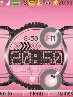 Digital Flash Clock Mobile Theme