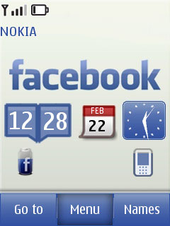 Facebook Touch And Type Mobile Theme