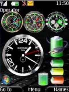 4 Clocks Mobile Theme