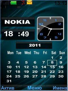 Clock Calendar Mobile Theme