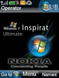 Animated Windows 7 Inspirate Mobile Theme
