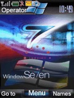 Animated Windows S7en Loading Mobile Theme