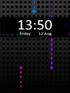 Iphone Hd Clock Mobile Theme