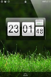 HTC Green Clock IPhone Theme Mobile Theme