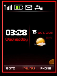 Ubuntu Clock Theme Mobile Theme
