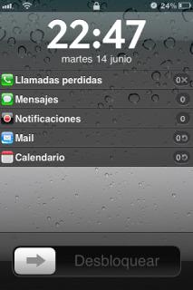 IOS5 Style LockInfo Mobile Theme