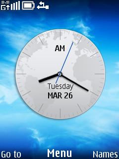 World Clock Mobile Theme