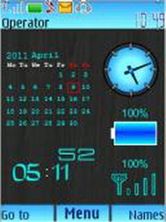 Calendar Battery Mobile Theme