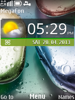 Lenovo Clock Mobile Theme