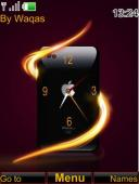 Iphone Analog Clock  Mobile Theme