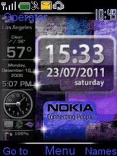 Nokia Blue Clock Mobile Theme