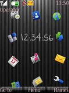 Nokia Touch Clock Mobile Theme