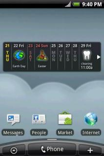 Clouds Calendar Widget For Android Theme Mobile Theme