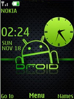 Green Android Clock S40 Theme Mobile Theme