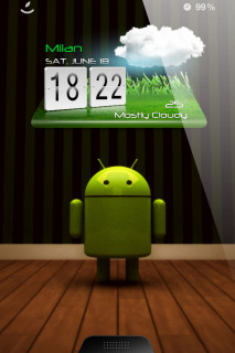 Android Clock IPhone Theme Mobile Theme