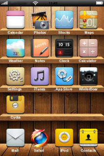 Wood Box All In One IPhone Theme Mobile Theme