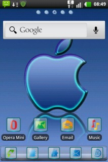 Blue Apple Reflection Android Theme Mobile Theme